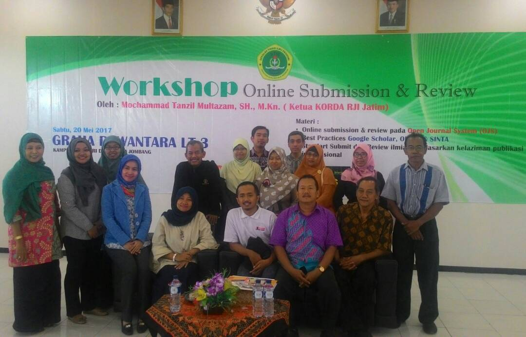 WORKSHOP ONLINE SUBMISSION AND REVIEW STIE PGRI DEWANTARA JOMBANG