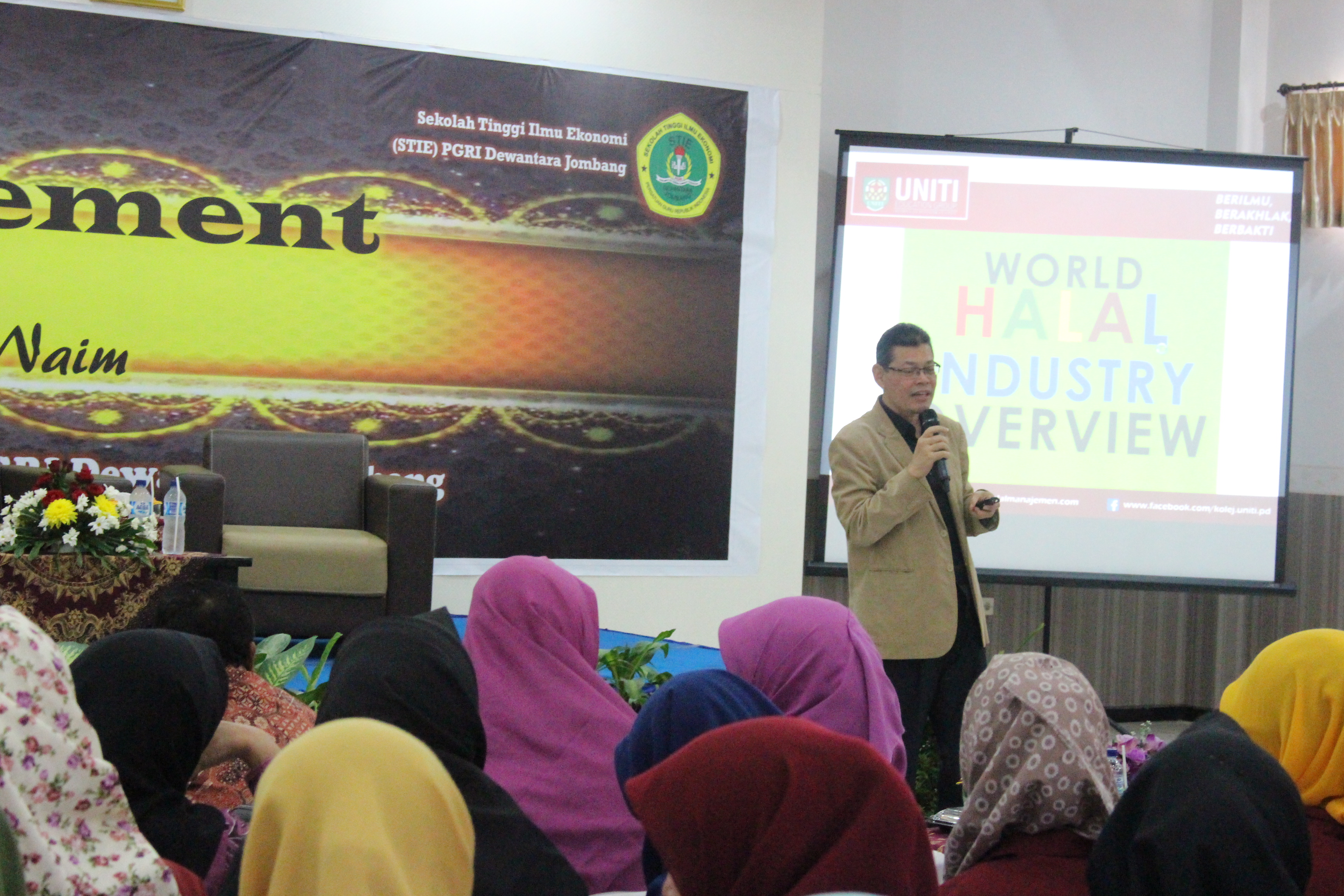 """GUEST LECTURE  """" HALAL MANAGEMENT """" BY HJ. RAMLAN BIN HJ NAIM, MBA"""