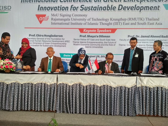MOU Signing Ceremony STIE PGRI Dewantara Jombang with Rajamangala University of Technology Krungthep (RMUTK) Thailand and International Institute of Islamic Thought (IIIT) East and South East Asia
