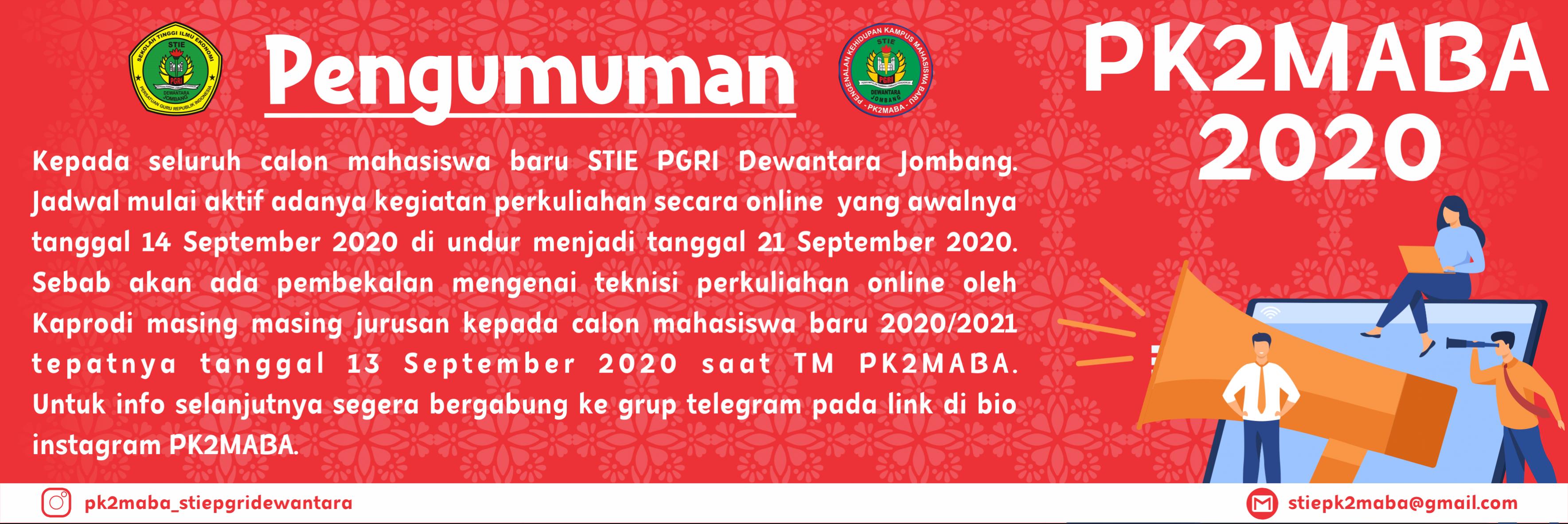 PENGUMUMAN INFORMASI PK2MABA
