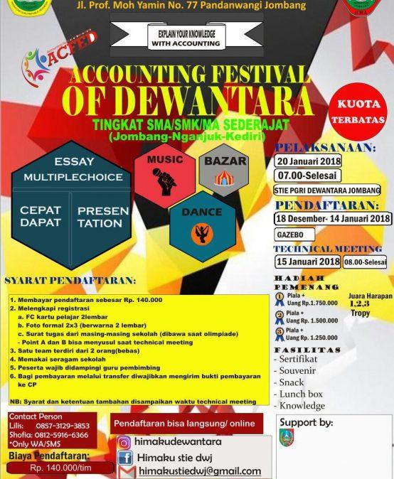 ACCOUNTING FESTIVAL OF DEWANTARA