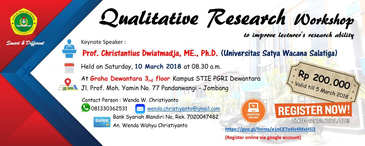 QUALITATIVE RESEARCH WORKSHOP