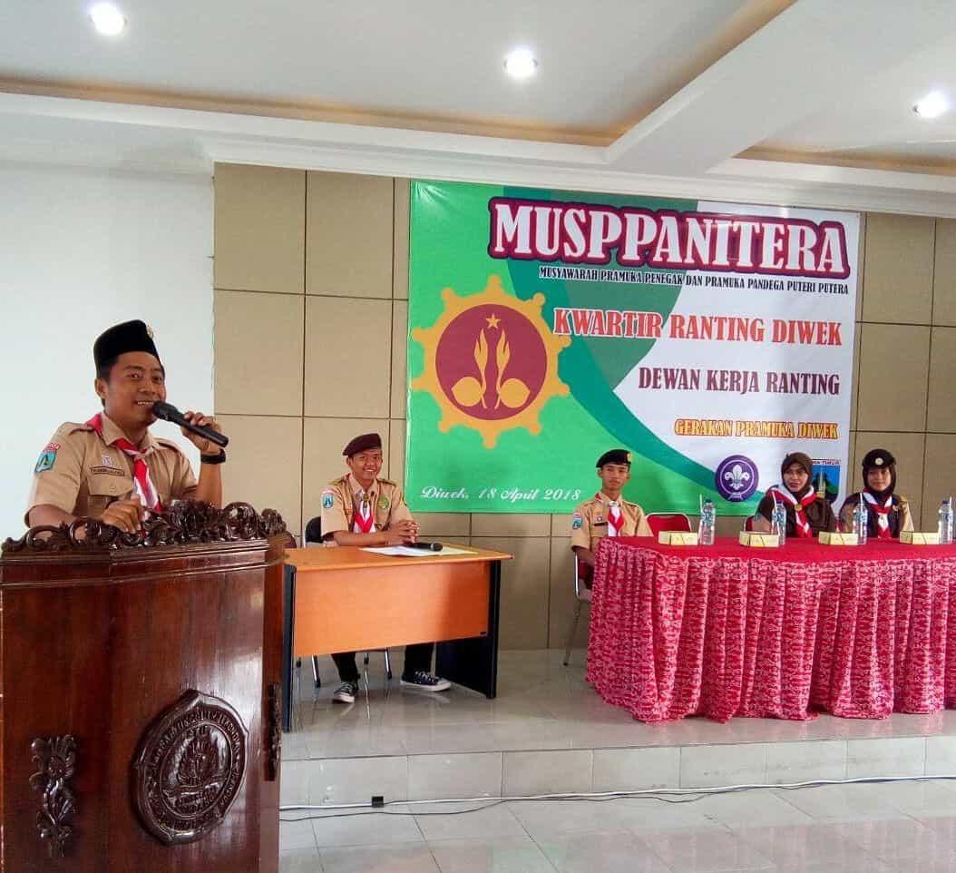 DKR Diwek bekerjasama dengan UKM Pramuka STIE PGRI Dewantara Jombang Sukses Menggelar MUSPPANITERA