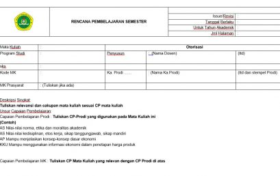 Form RPS dan CP Prodi Manajemen