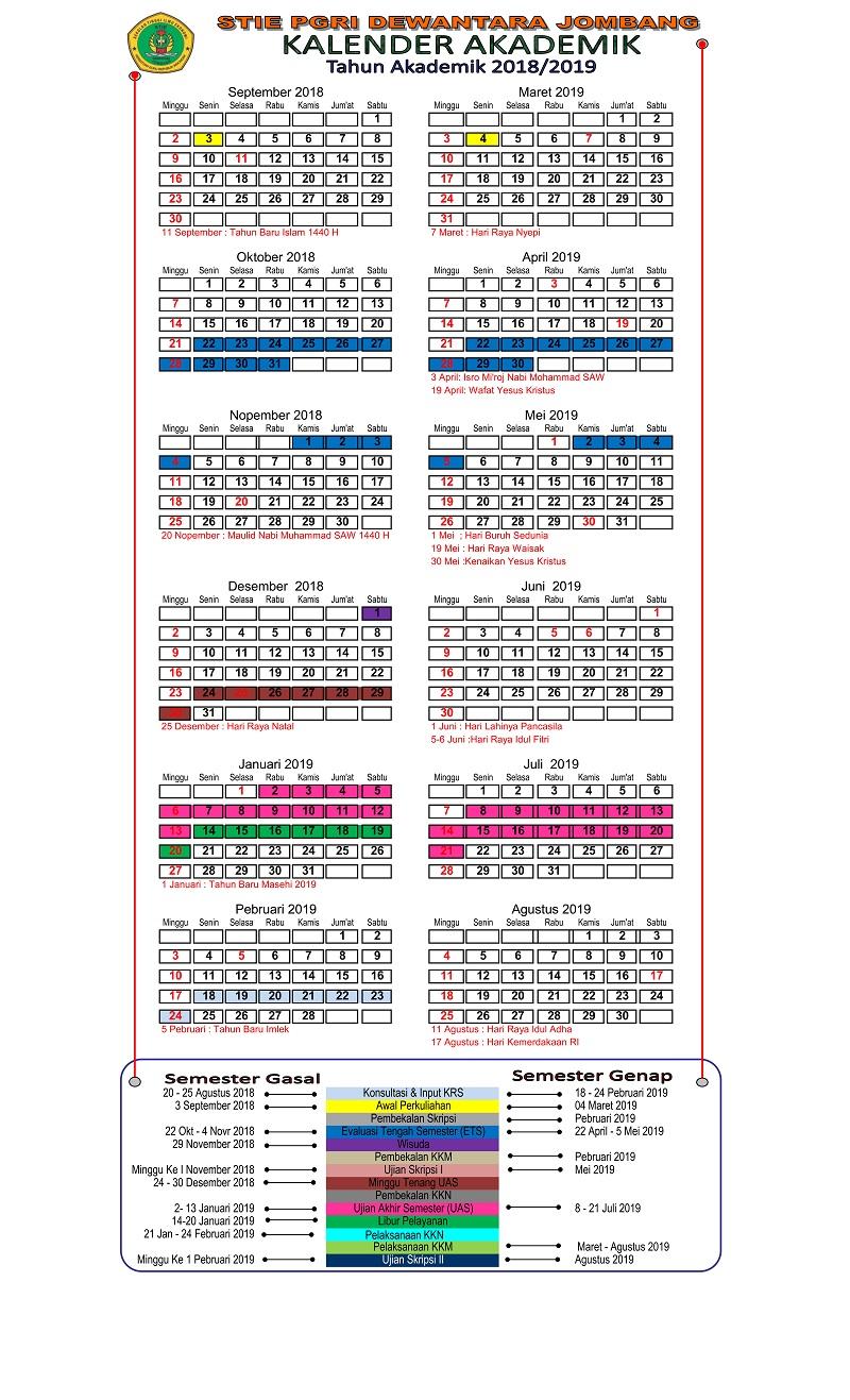 Kalender Akademik 2018 – 2019