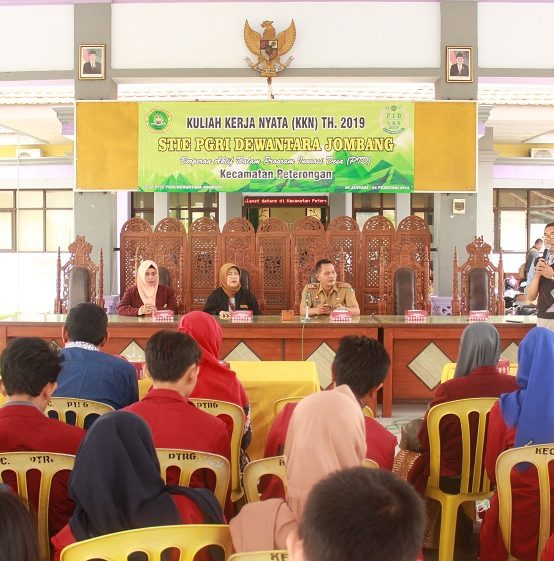 Pemberangkatan KKN Mahasiswa STIER PGRI Dewantara Jombang Tahun Akademik 2018/2019