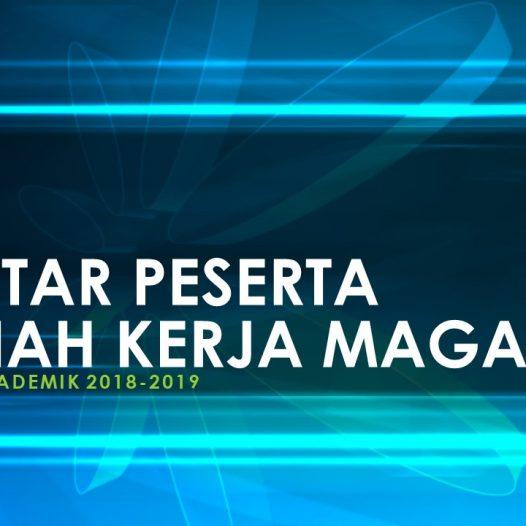 Daftar Peserta KKM TA 2018/2019 Genap