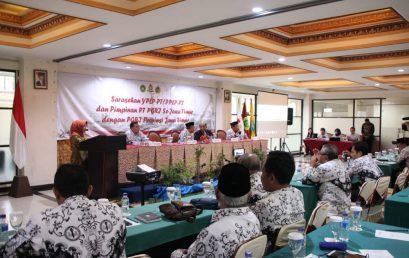 BUPATI JOMBANG BUKA SARASEHAN YPLP-PT (PPLP-PT) DAN PIMPINAN PT PGRI SE-JAWA TIMUR DENGAN PGRI PROVINSI JAWA TIMUR