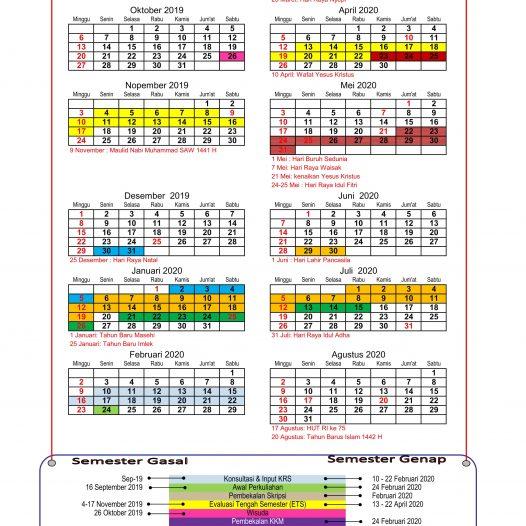 Kalender Akademik 2019 – 2020