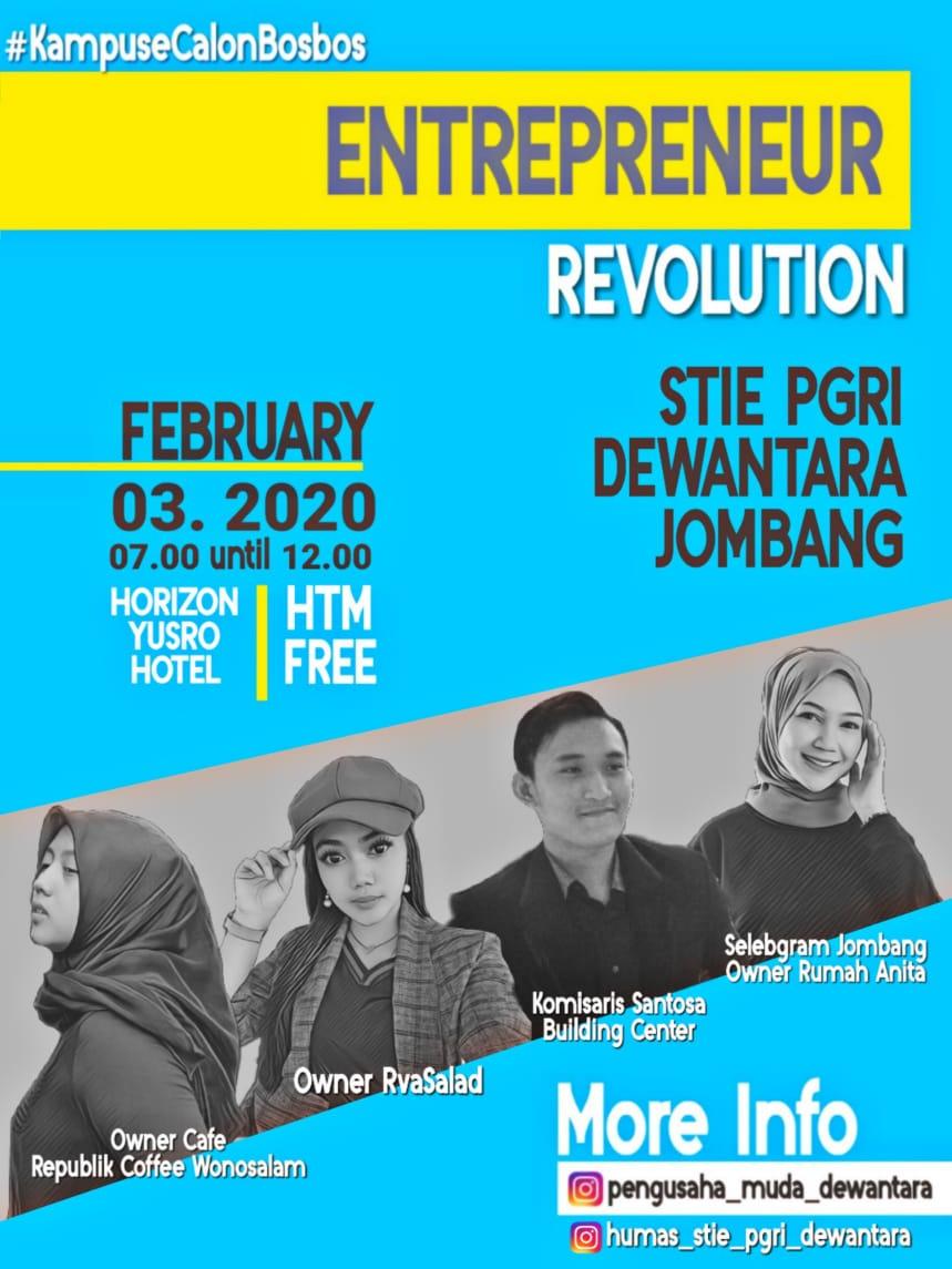 Entrepreneur Revolution February 3, 2020 At Horizon Yusro Hotel Jombang HTM free