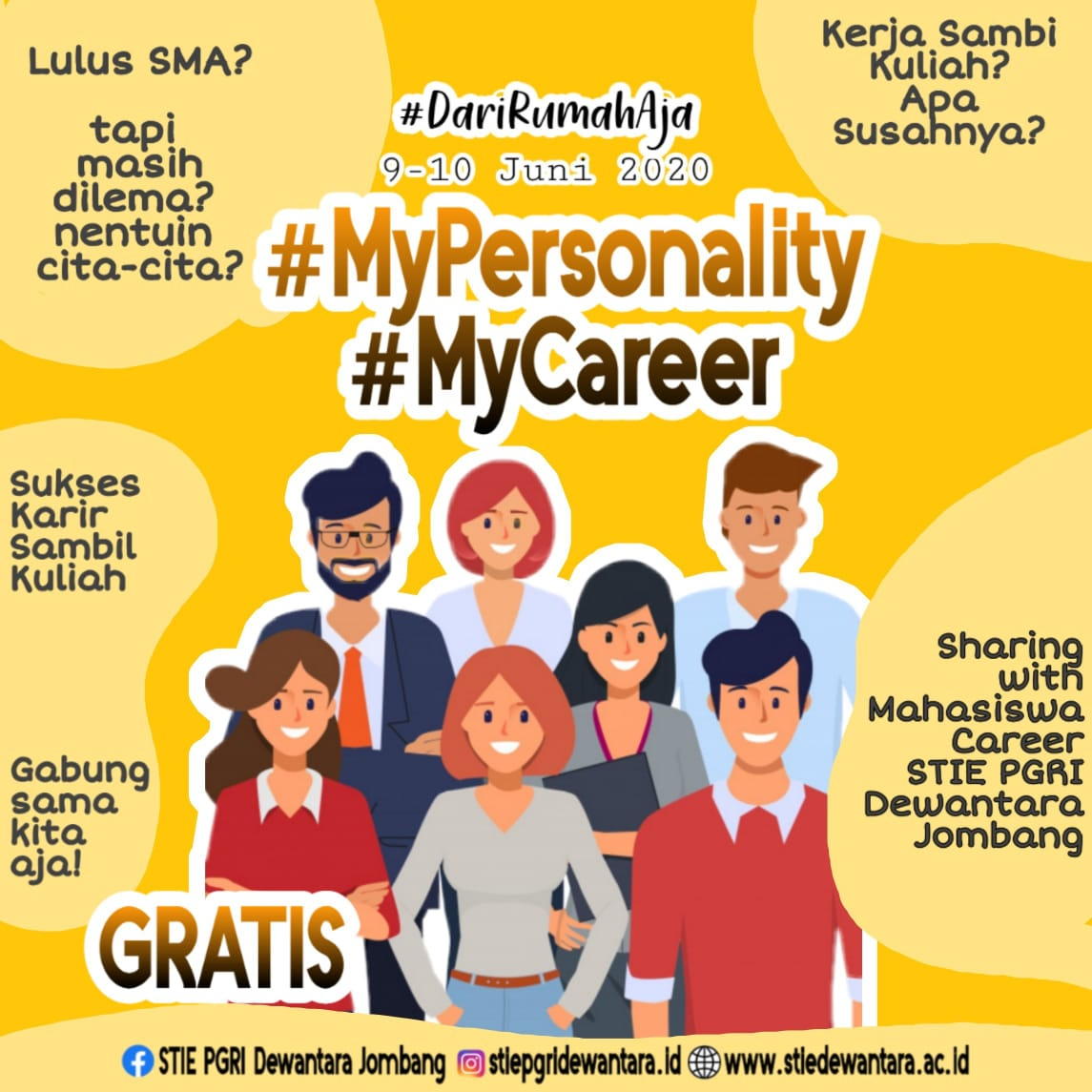 MY PERSONALITY, MY CAREER WITH STIE PGRI DEWANTARA JOMBANG