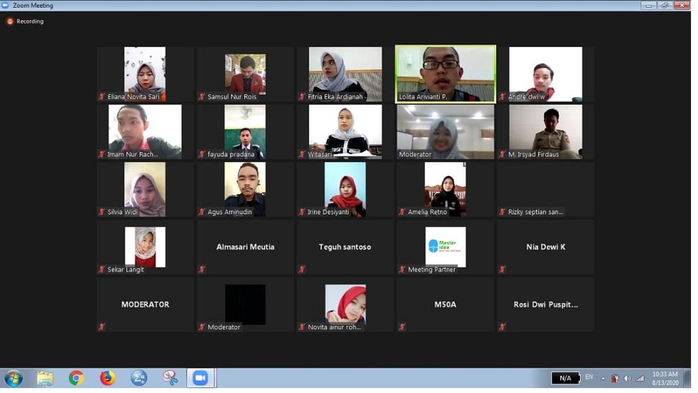 DEWAN PERWAKILAN MAHASISWA STIE PGRI DEWANTARA JOMBANG SUKSES GELAR  SARASEHAN KEMAHASISWAAN TAHUN 2020