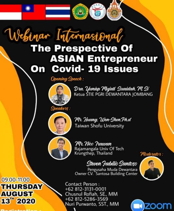 WEBINAR INTERNASIONAL : THE PRESPECTIVE OF ASIAN ENTREPRENEUR ON COVID-19 ISSUES