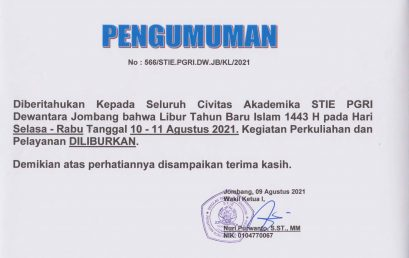 Pengumuman Libur Pelayanan Tahun Baru Islam 1443 H